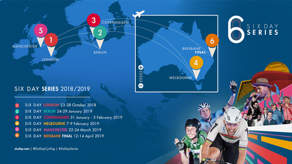 Sport Projects appointed organiser of the Six-Day Cycling Series in Australia
